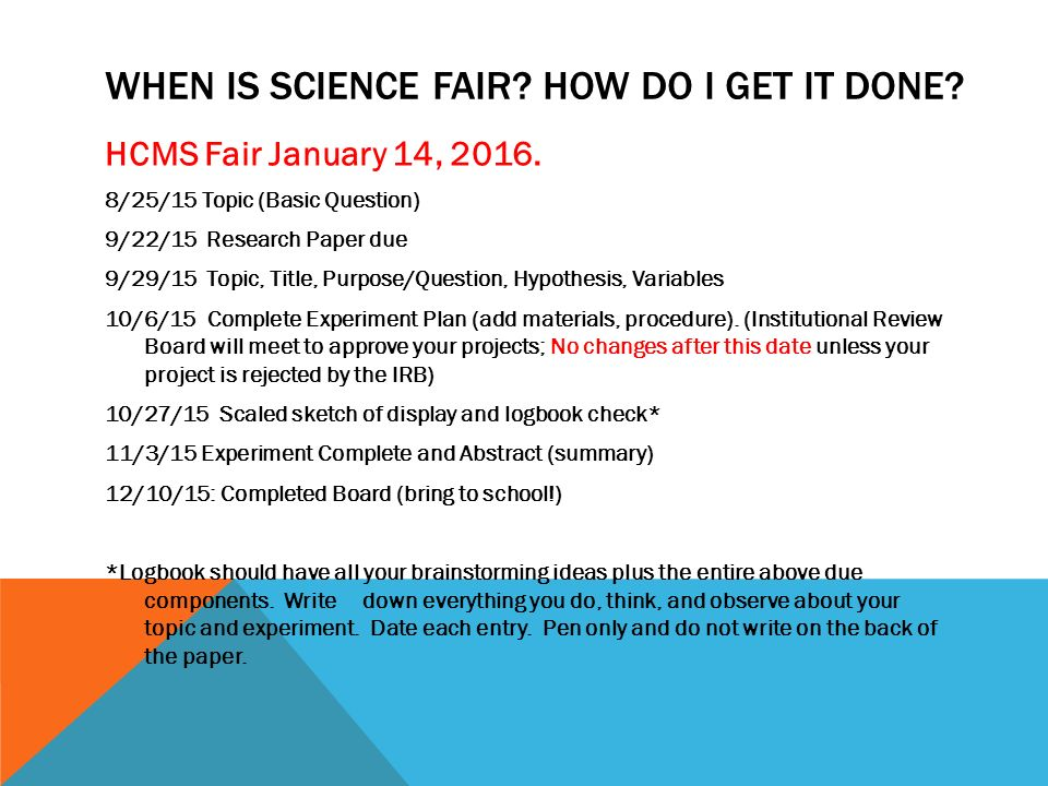 write a science fair research paper Science research papers follow a particular structure, including an introduction, review of methods, report on results and discussion of the meaning this discussion is often considered the conclusion for the paper.