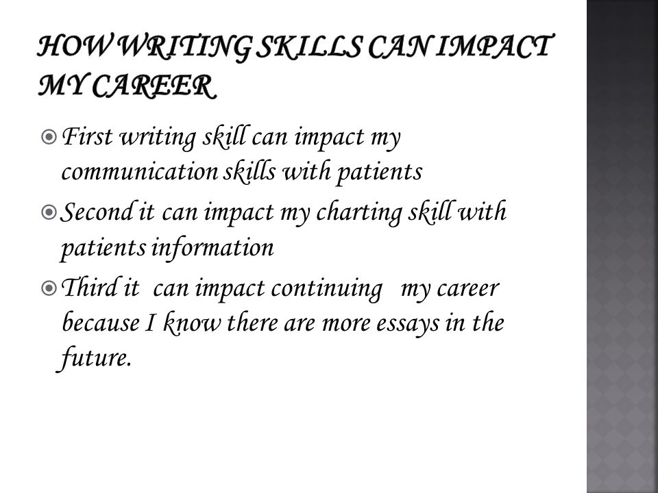 unit reflection presentation assignment  first strength would  4  first writing skill can impact my communication