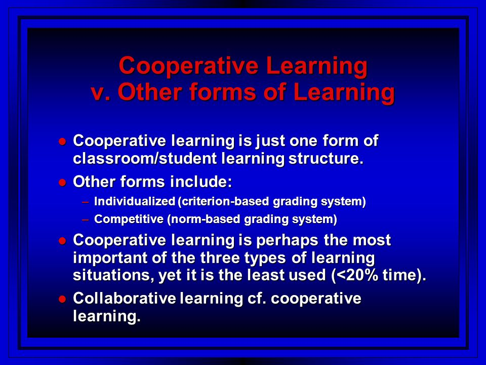 Cooperative Learning v.