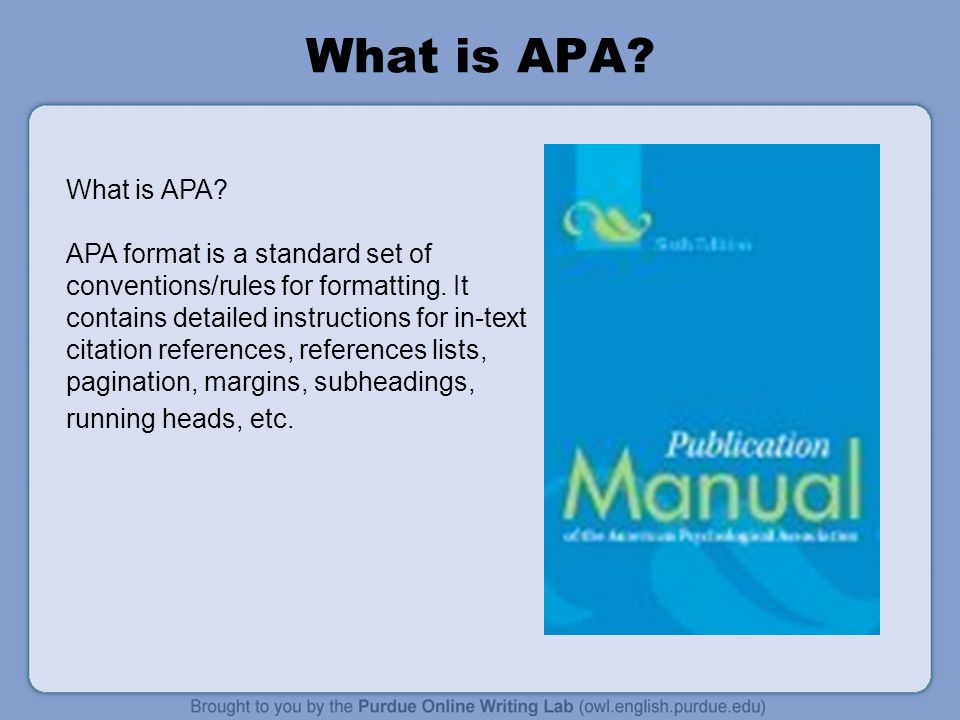 what is a apa format