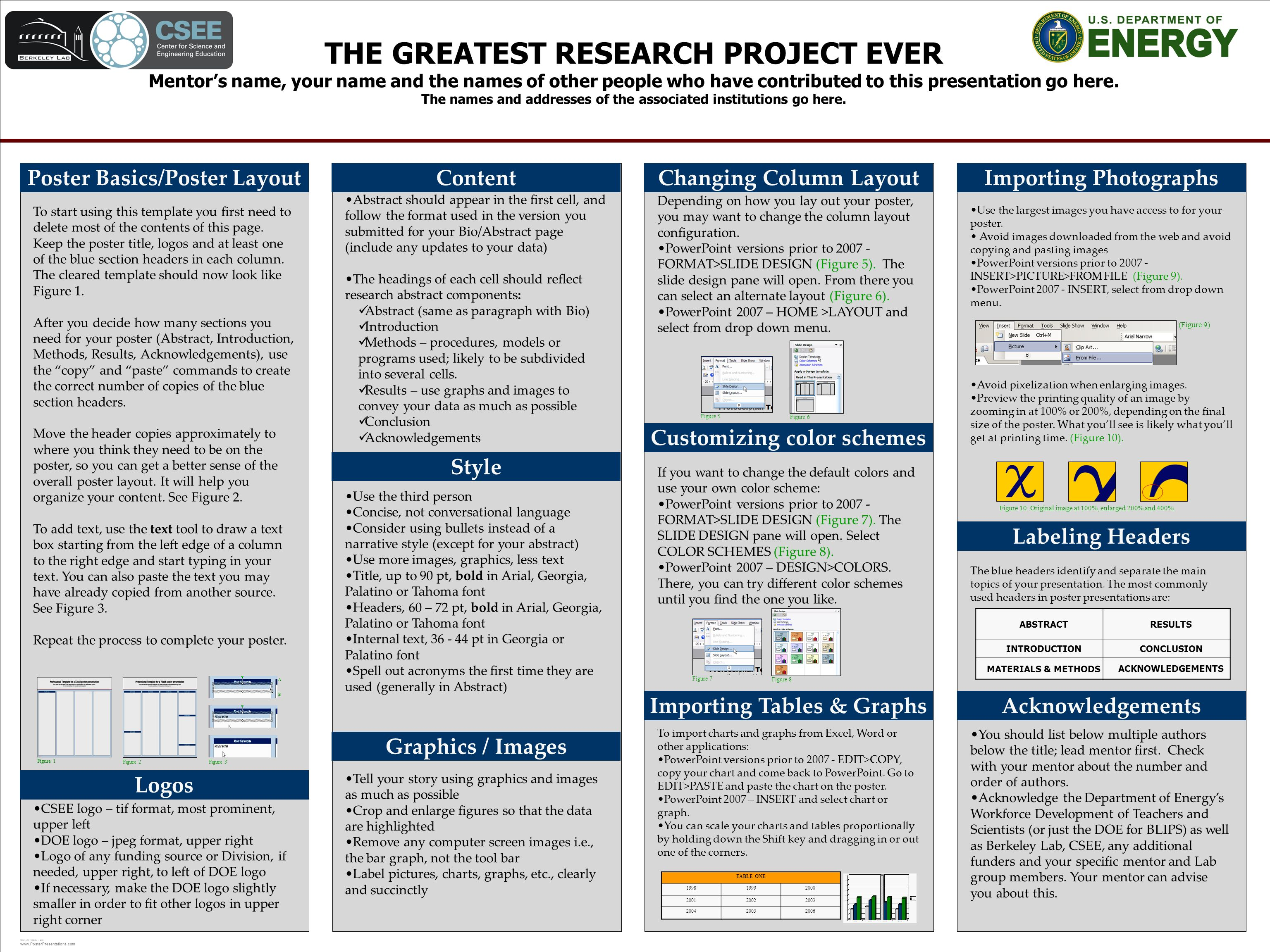 Template design the greatest research project ever mentors name 1 template toneelgroepblik Choice Image