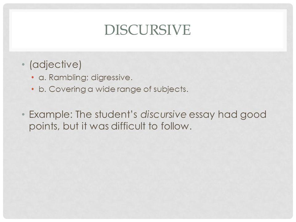 example of discursive essay