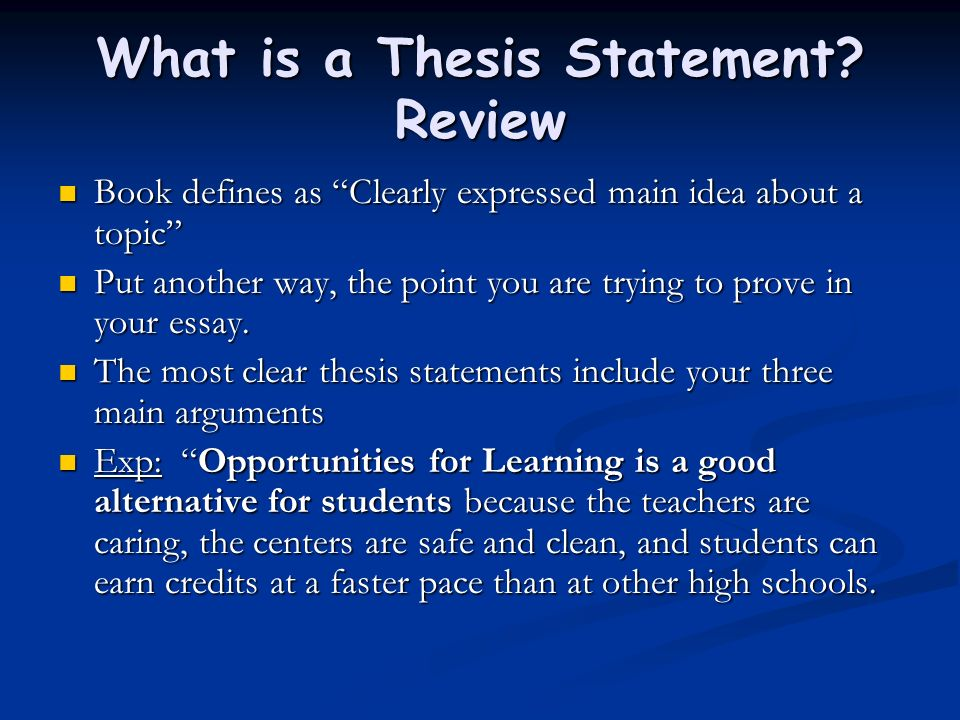 so what thesis statements Writing an effective thesis statement so what why should a reader continue in what ways are the lifestyles of the youngsters different.