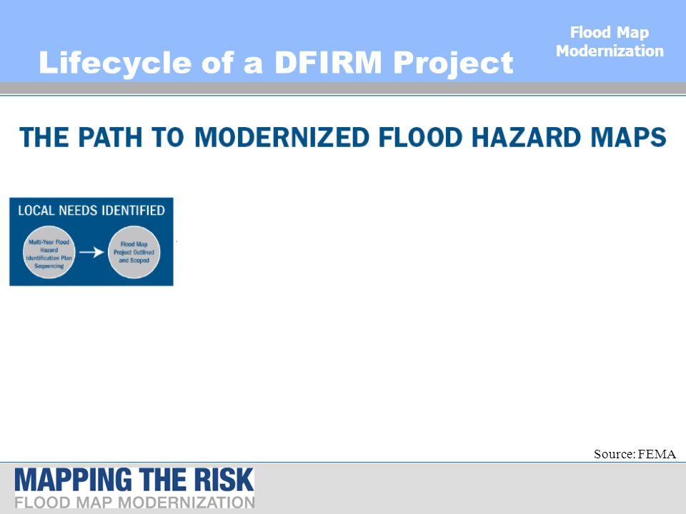 Flood map modernization and north dakota julie prescott nd map 9 flood map modernization lifecycle of a dfirm project source fema publicscrutiny Gallery