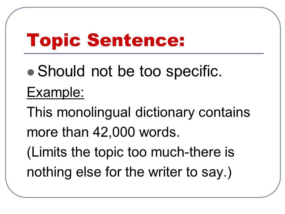How many sentences should a paragraph contain?