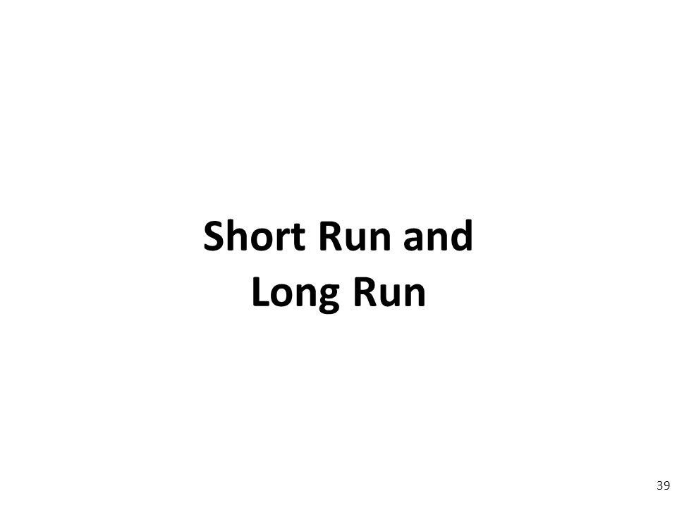 Short Run and Long Run 39