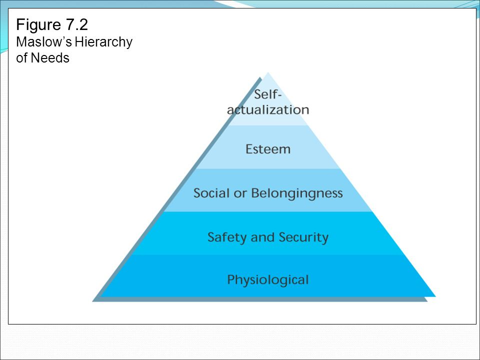 Figure 7.2 Maslow's Hierarchy of Needs