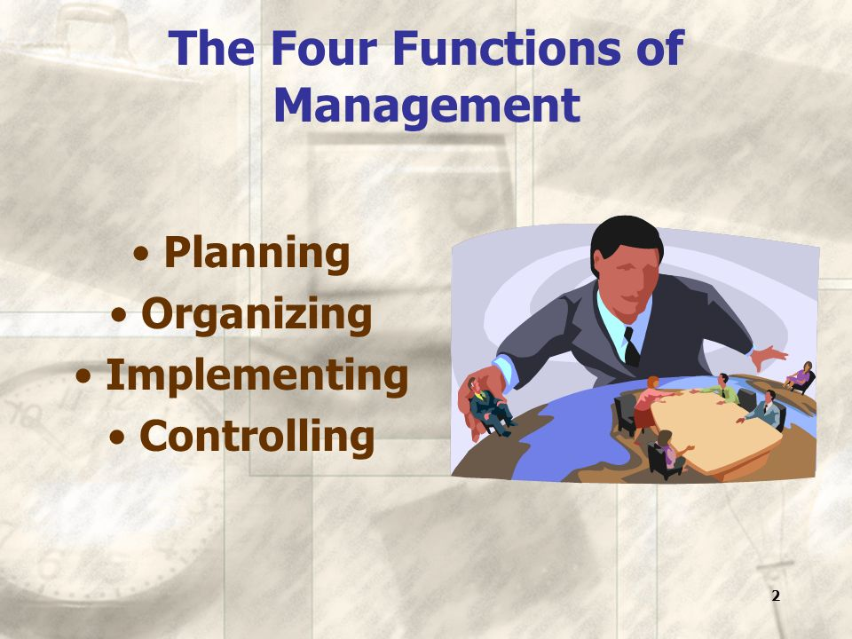 13 Elements of organization Division of work Facility layout for maximum output Equipment and materials Employees