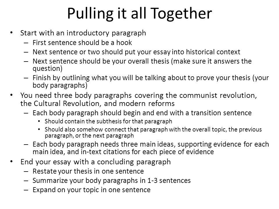 communism in essay writing pulling it all together start  2 pulling it all together start