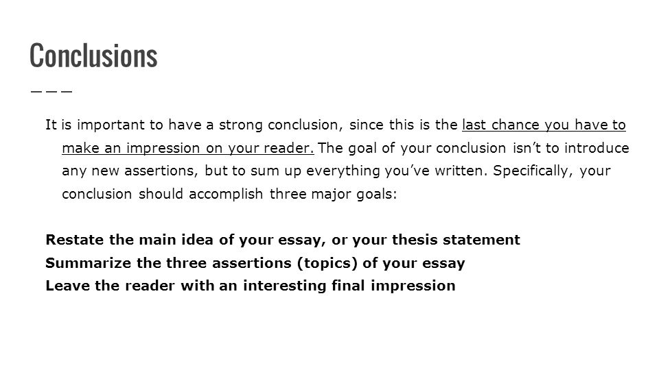 writing a conclusion to an essay Writing essays can be difficult these tips on how to write an essay can guide you through the process so you can write a masterpiece.