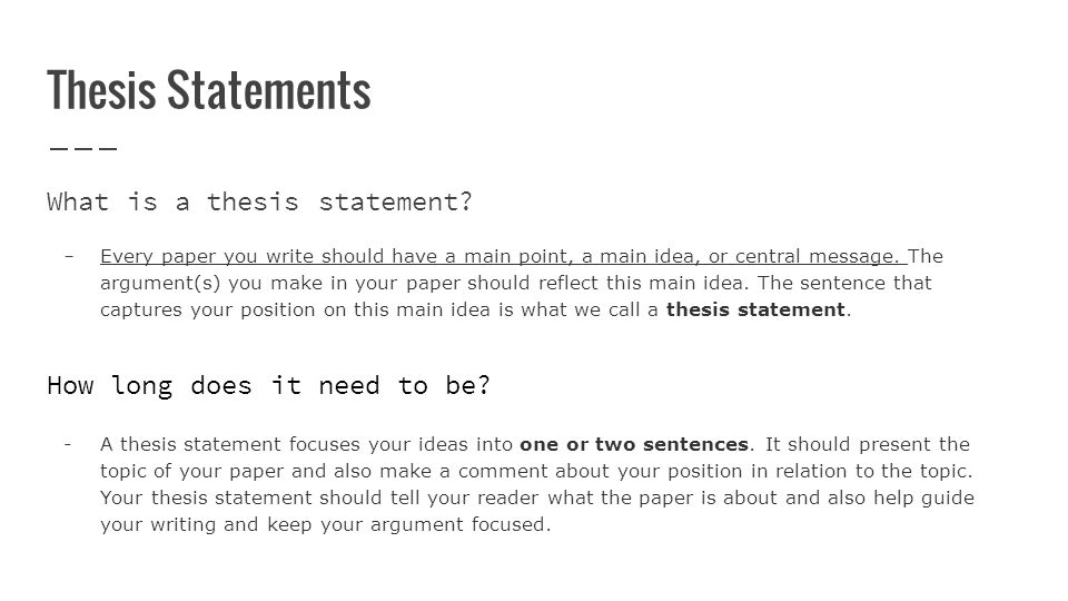writing persuasive essays how to write thesis statements identify  thesis statements what is a thesis statement