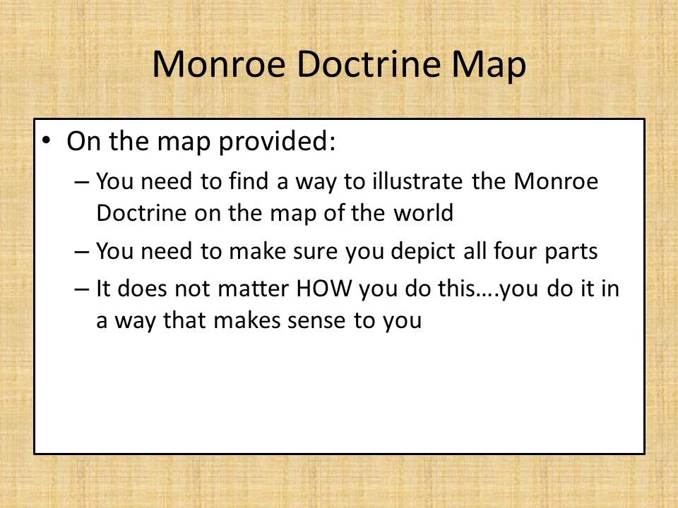 WARMUP What Is The Missouri Compromise What Was The Purpose Of - Map of the us during monroe doctrine