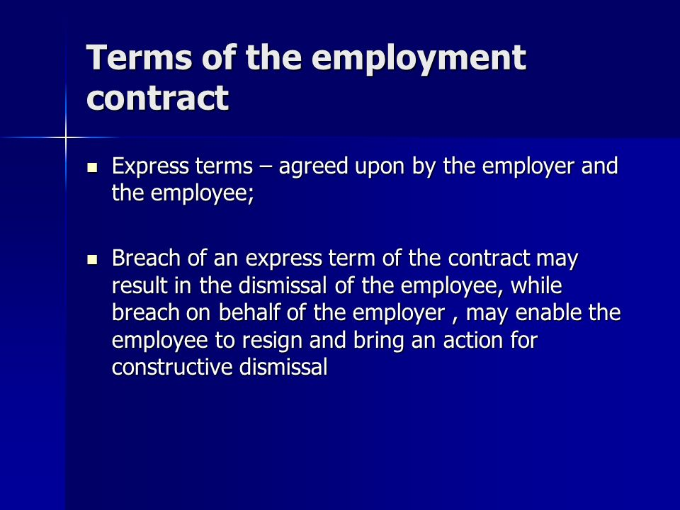 Employment Law Contract Of Employment Contract Of Employment