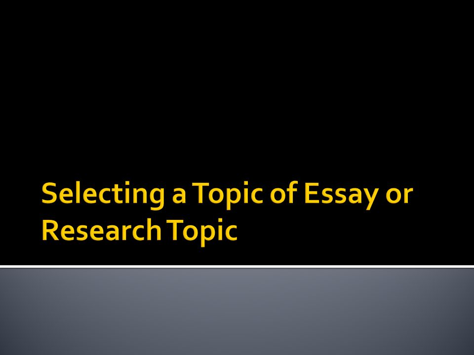 What is a good topic to write about?