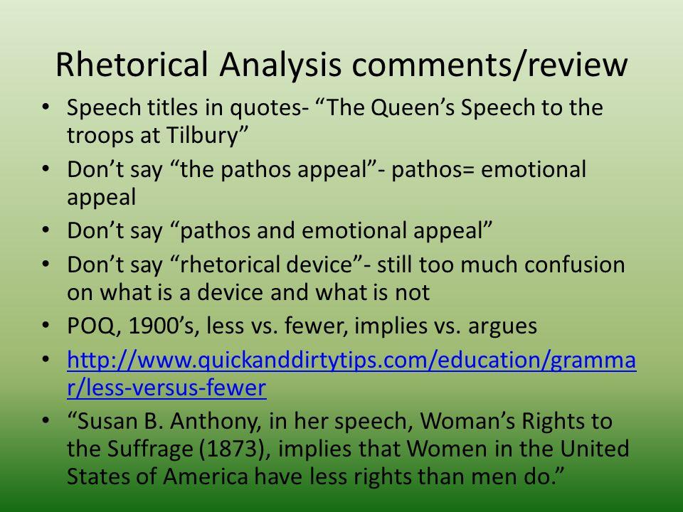 rhetorical anaylis