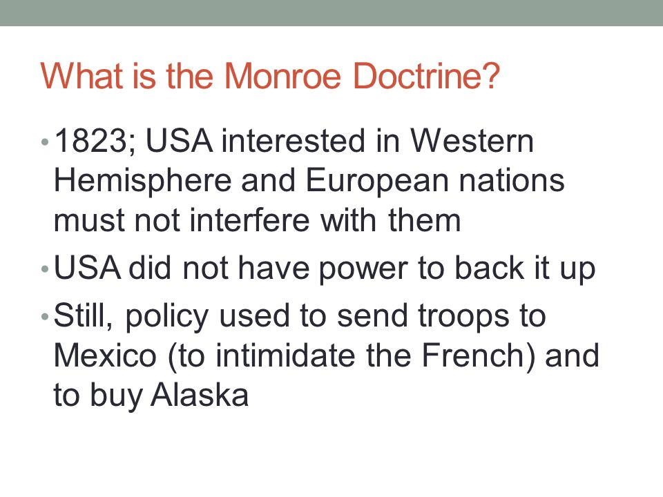 BACKGROUND OF IMPERIALISM NOTES What Is The Monroe Doctrine - Usa hemisphere