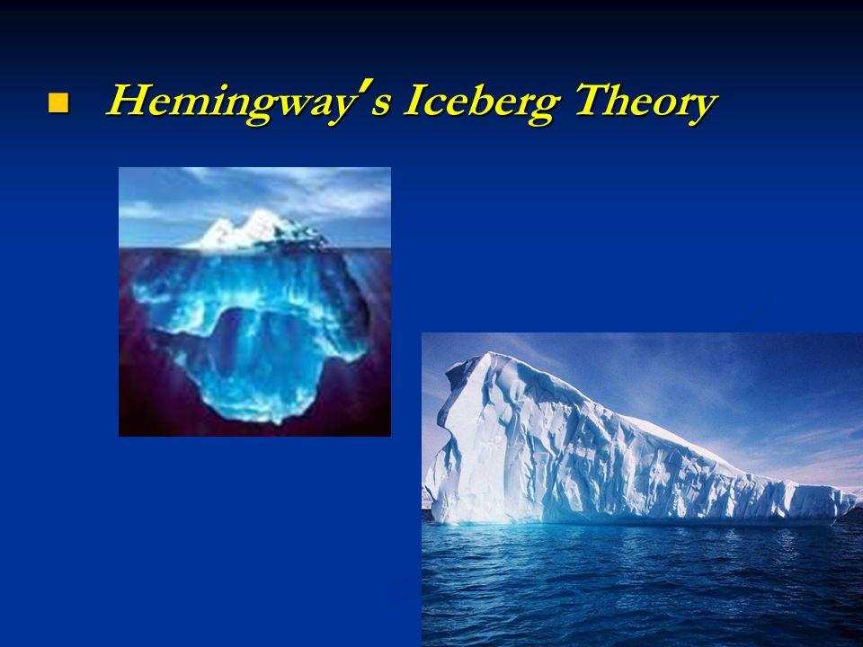 chapter ten ernest hemingway ernest hemingway  9 hemingway s iceberg theory hemingway s iceberg theory