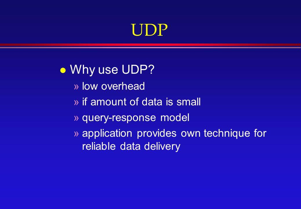 UDP l Why use UDP.