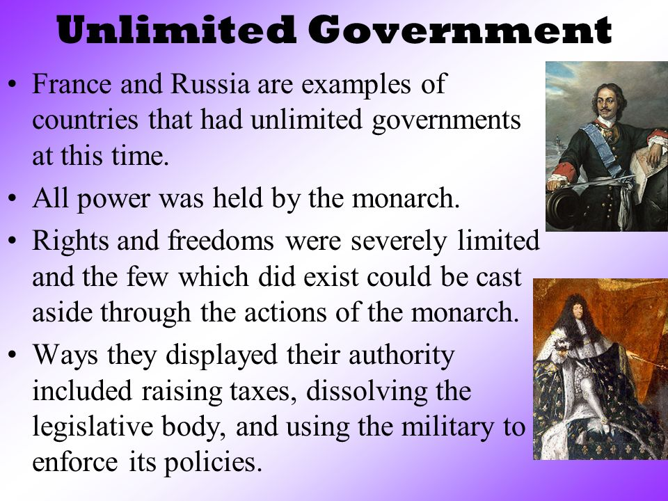 6 Unlimited Government ...