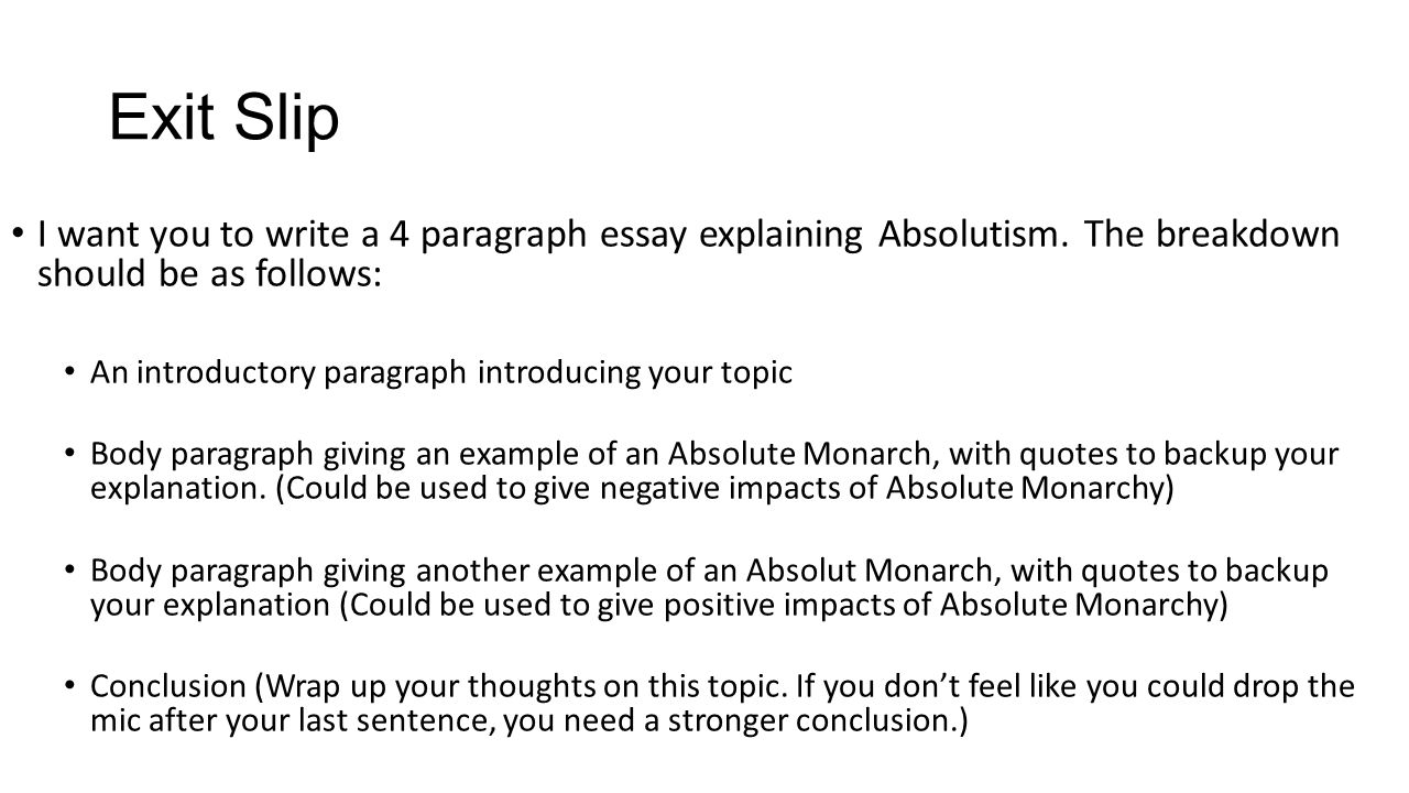 4 write an essay about the A four paragraph essay is an acceptable format for many types of essays, including cause and effect and compare and contrast essays the four-paragraph essay consists of an introduction, two body paragraphs and a conclusion.
