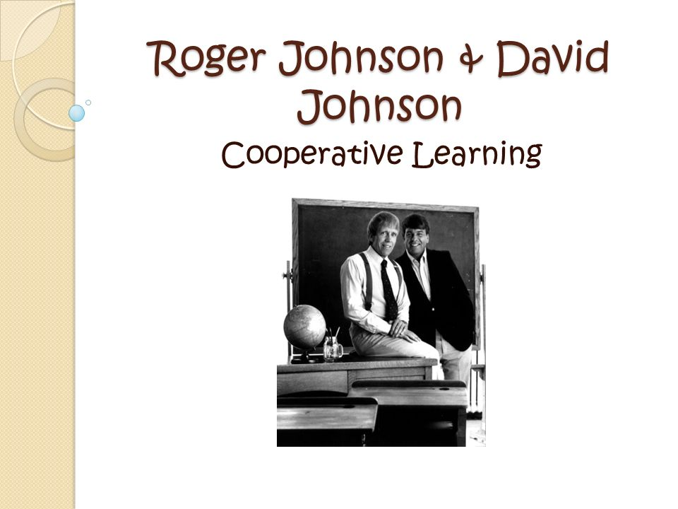 Johnson & Johnson are both co-directors of The Cooperative Learning Center at the University of Minnesota.