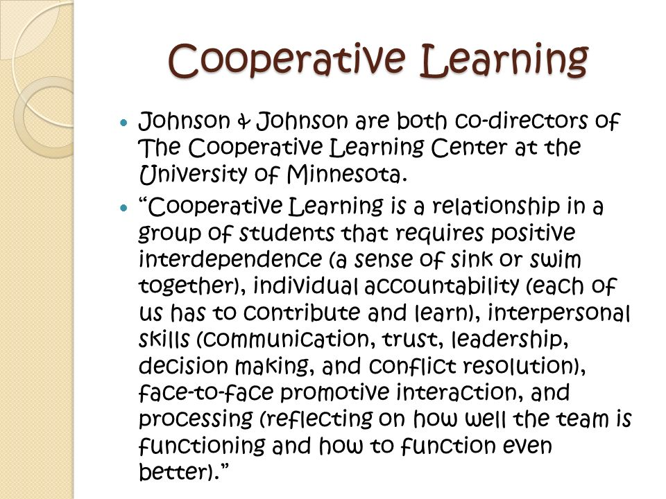Cooperative Learning P.I.G.S.