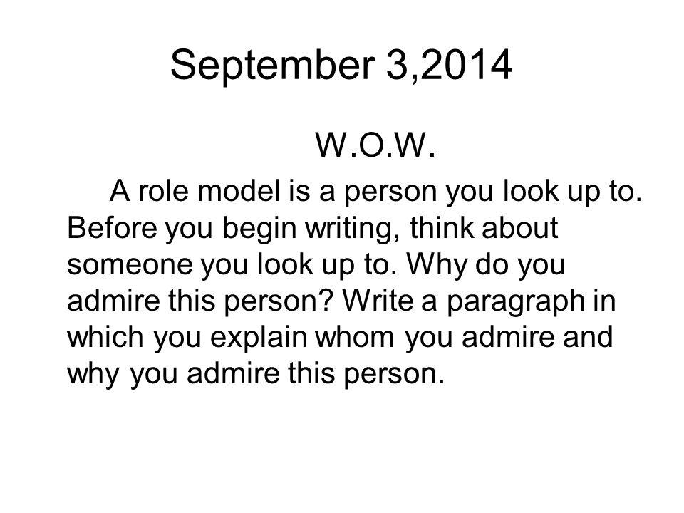 Person you admire essay
