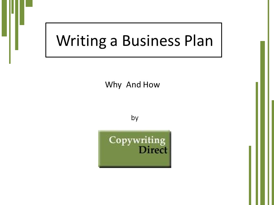 the order of a business plan