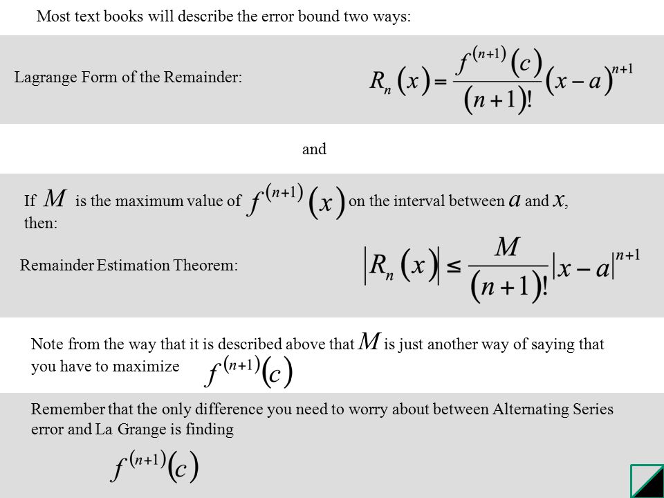 12.8 Taylor's Theorem: Error Analysis for Series Tacoma Narrows ...