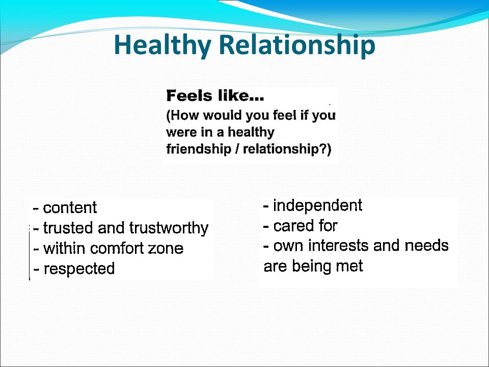 What Should A Healthy Relationship Be Like