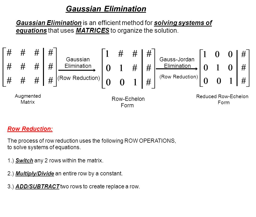 MCV4U1 Matrices and Gaussian Elimination Matrix: A rectangular ...