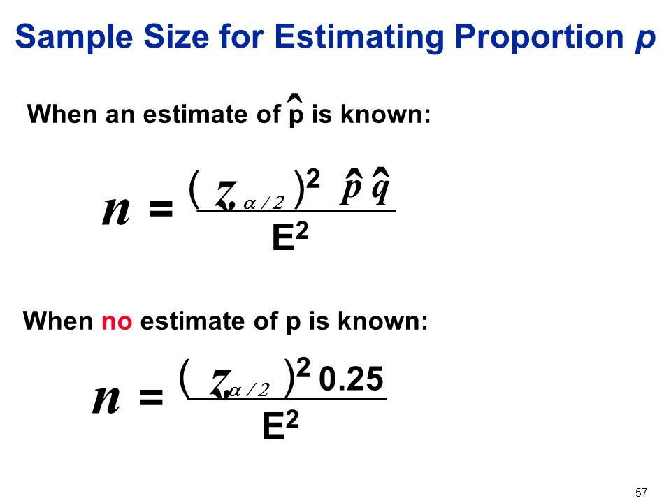 sample estimate
