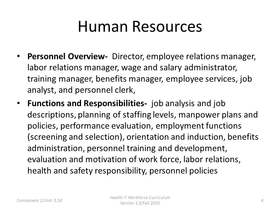 human resource unit 3
