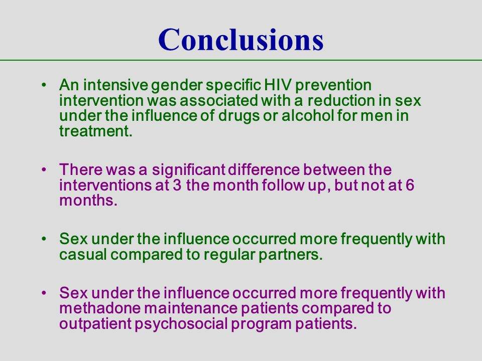 Sex under the influence of alcohol and other drugs