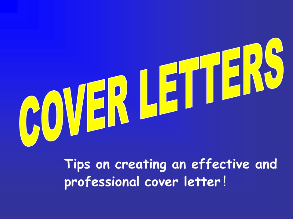 creating a professional cover letter