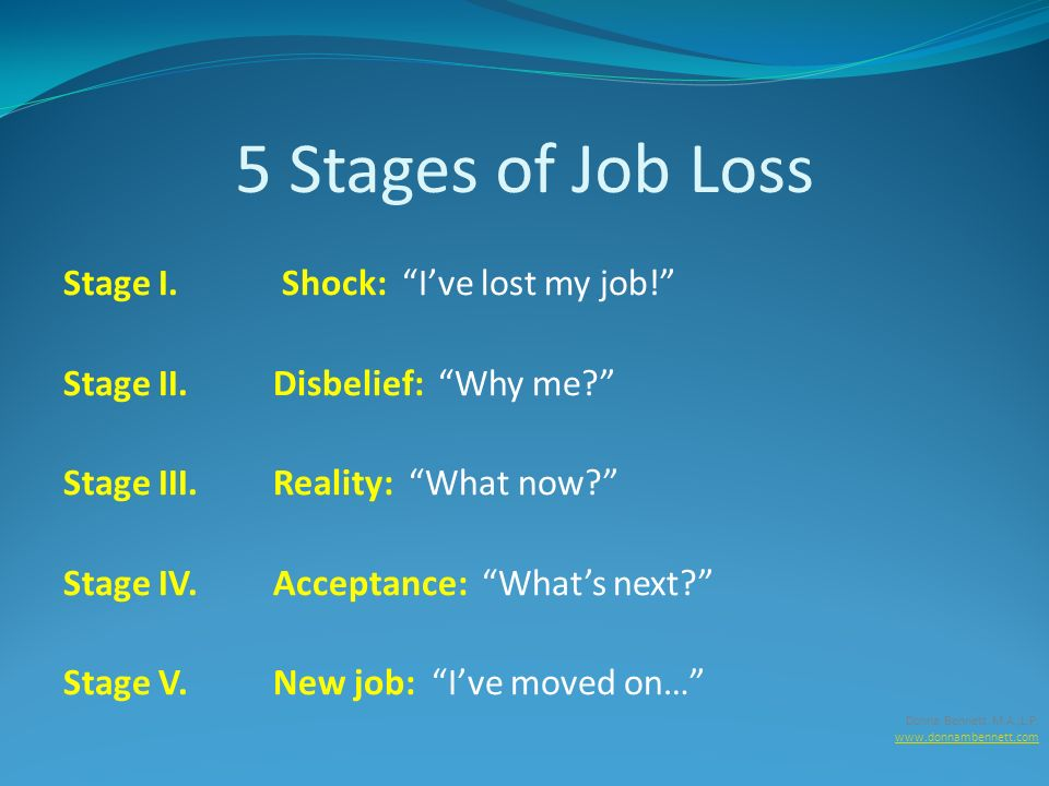 5 stages of job loss stage i shock ive lost my job - I Lost My Job Now What What To Do When You Lose Your Job