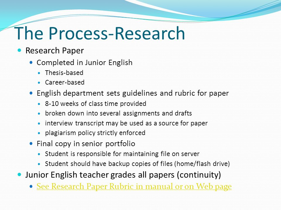 career research paper rubric Career research paper rubric research report: career research paper student name: _____ category 4 3 2 1.