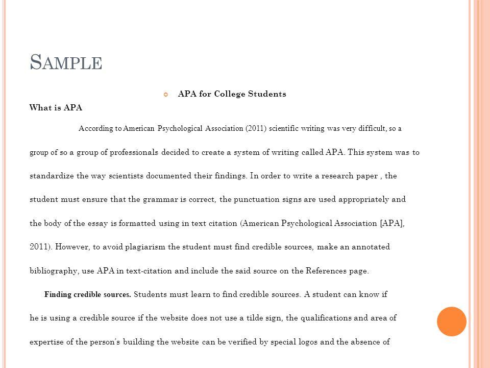 Order Of Research Paper Apa