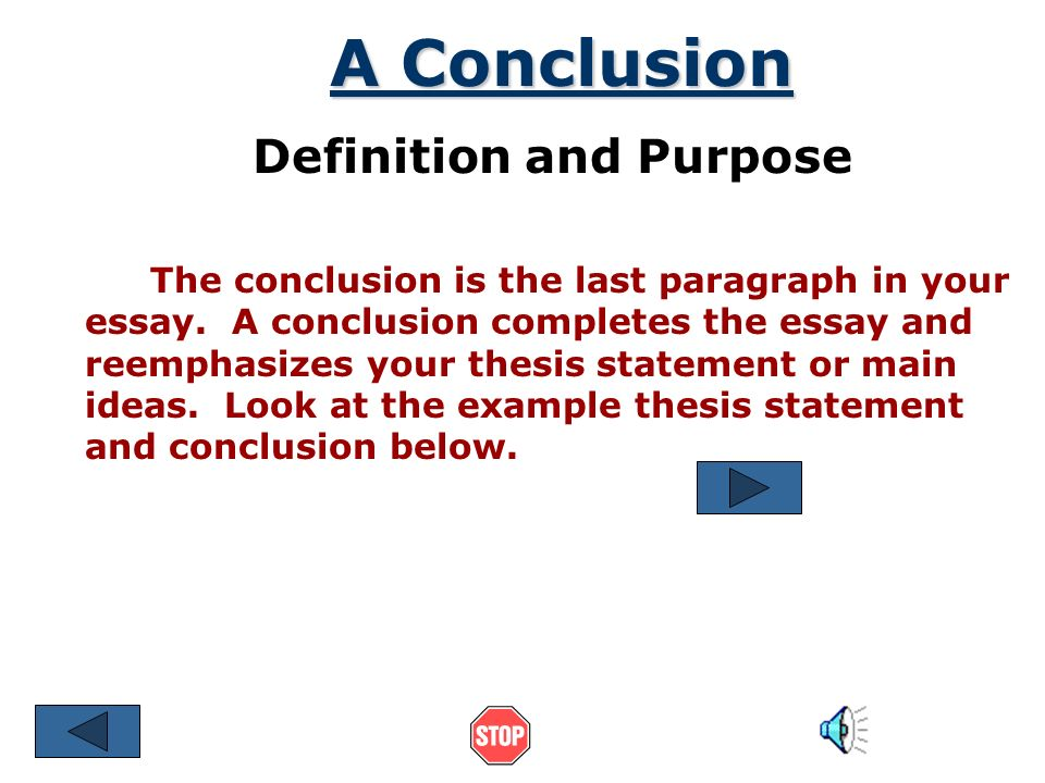 definition of conclude
