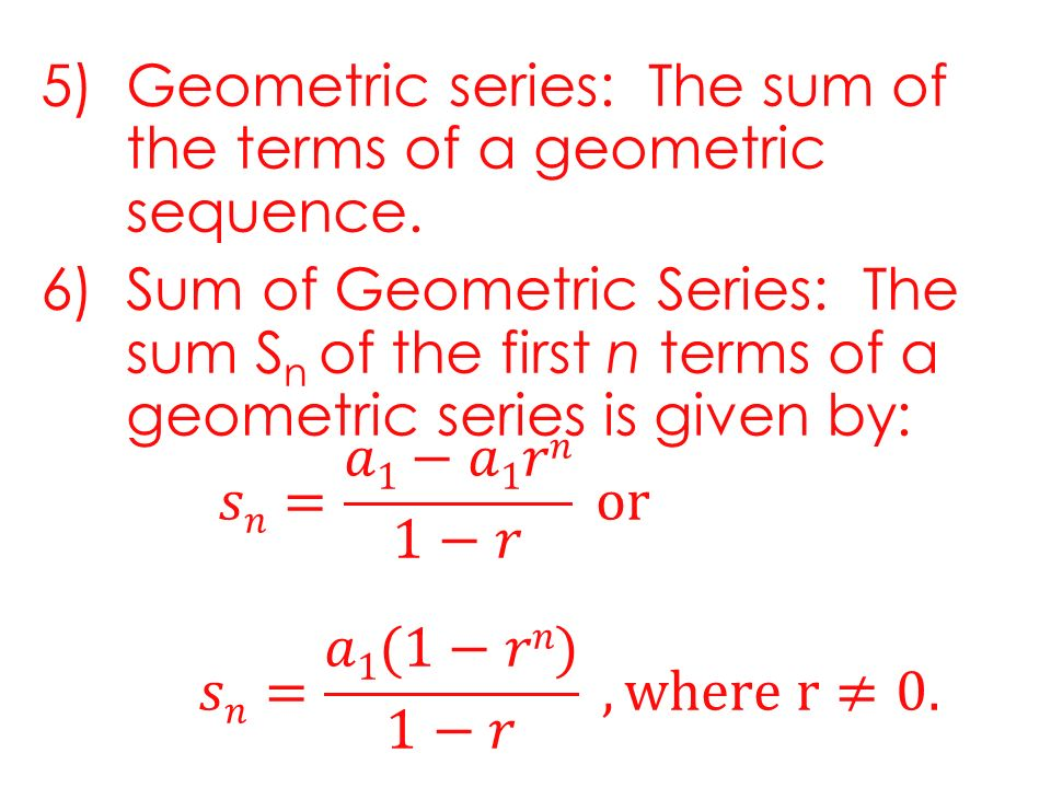 Arithmetic and Geometric Series Lesson 43 LESSON OBJECTIVE 1 – Sigma Notation Worksheet