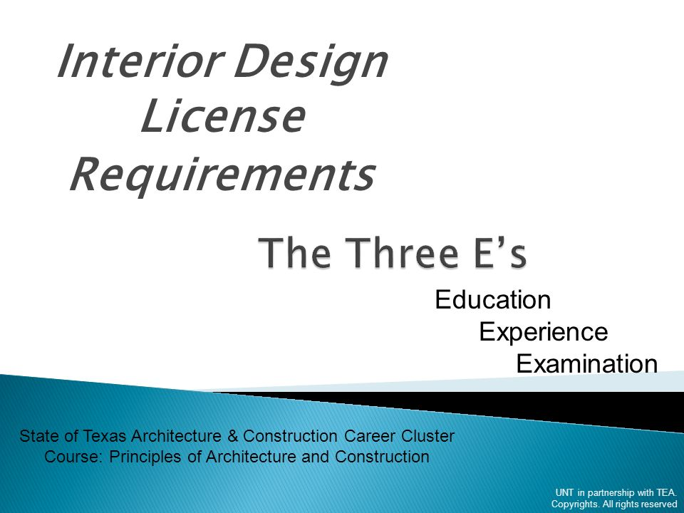 1 Interior Design License