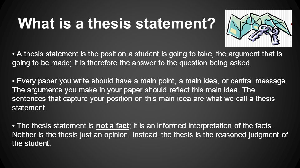Write my make a thesis statement online