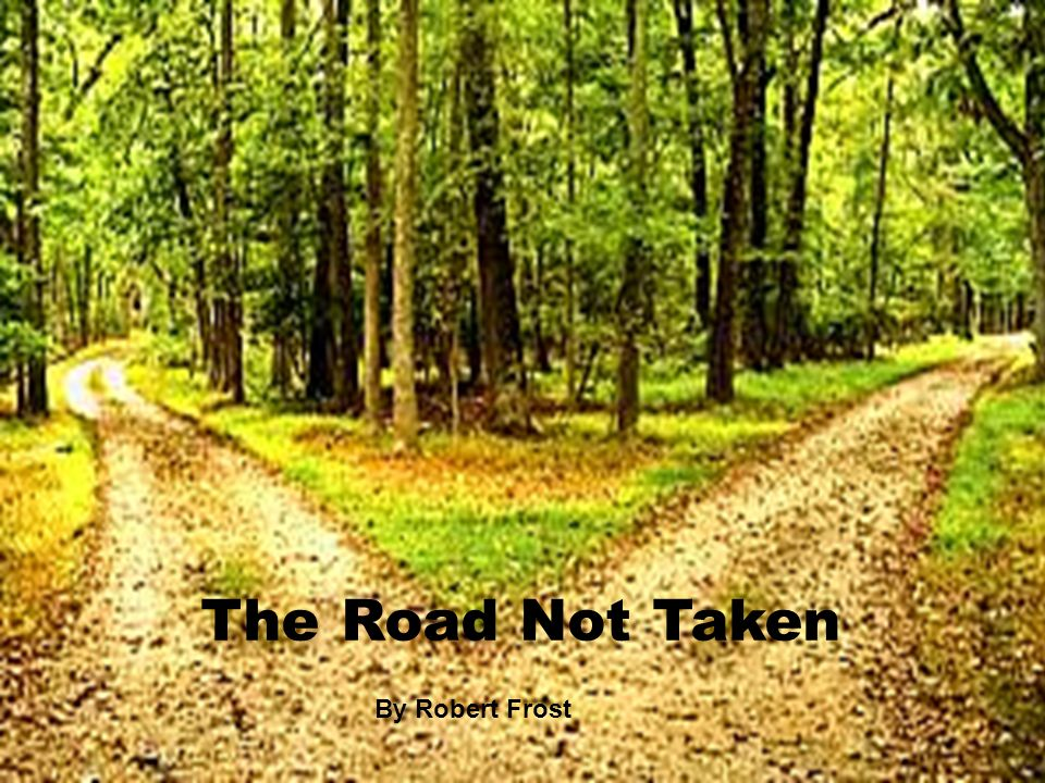 outline of the road not taken by robert frost