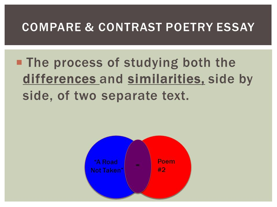 comparing and contrasting poetry essays Essay writing guide english literature comparing poems compare and contrast the poems 'i remember, i remember' and 'to the virgins to.
