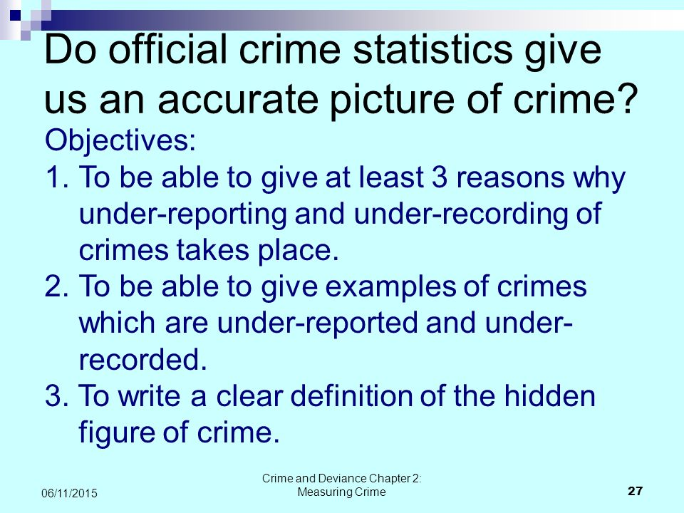 identify the official crime statistics in