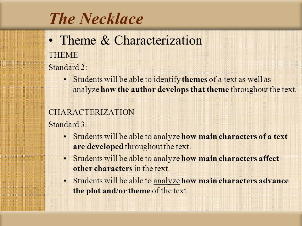 the necklace critical analysis