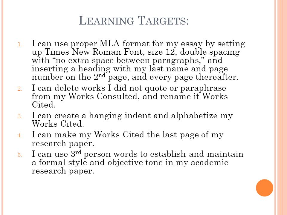proper mla formatting for an essay
