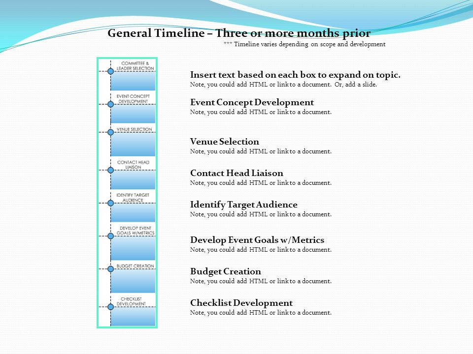 Event Timeline Template General Timeline Three Or More Months - Timeline html template