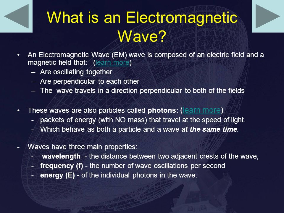 What is an Electromagnetic Wave.
