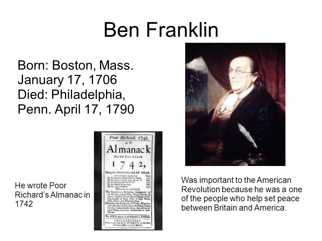 why benjamin franklin was a good Benjamin franklin, the writer benjamin franklin loved to read when he was young, he borrowed books from anyone who would lend them.